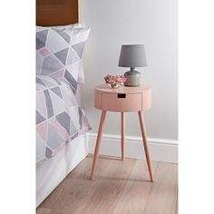 Homesavers | Moden 1 Drawer Bedside Table - Blush Cheap Bedside Tables, Bedroom Furniture, Bedroom Decor, Blush Bedroom, Blush And Grey, Bedside Cabinet, Cupboard Storage, Victorian Homes, Contemporary Design
