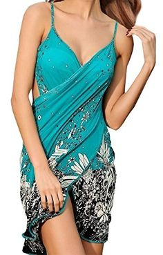 6f2e132b36 Simplicity Women's Floral Print Beach Sarong Bath Cover-up Swimwear Pareo  Wrap Tankini Swimsuits For