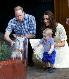 OMG! Prince William and Kate Middleton introduce Prince George to a bilby named after him at the Taronga Zoo in Sydney on Apr. 20