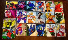 He-man 'Break' juicebox stickers. They went on a poster.
