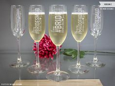 Personalized Will You Be My Bridesmaid Champagne by LetsTieTheKnot
