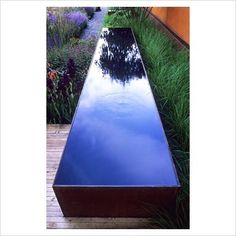 simple, clean fountain reflecting pool