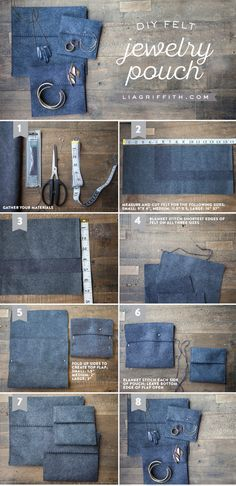 Felt Jewelry Bags Tutorial MichaelsMakers Lia Griffith