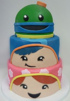 Team Umizoomi Birthday Cake - I have to make this for Natalie's birthday!  She is asking for a Geo cake having already had a Millie a few years ago.  I will surprise her with this one!