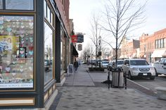 Lockport Street (looking W). Plainfield, Illinois USA. Photograph taken on February 13, 2013. Photograph by Zach Borders of Civic ArtWorks, LLC.