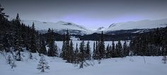 Snowy mountains, Valdres, Norway