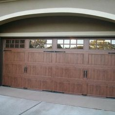Clopay Gallery Collection Steel Garage Doors With Ultra Grain Faux Wood Finish Installed By