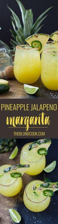 Pineapple Jalapeno Margarita | theblondcook.com