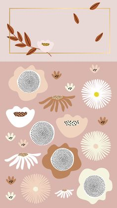 Floral Illustrations & Patterns by Laras Wonderland on Cute Wallpaper Backgrounds, Cute Wallpapers, Iphone Wallpaper, Illustration Blume, Graphic Design Illustration, Floral Illustrations, Flower Patterns, Print Patterns, Arte Sketchbook