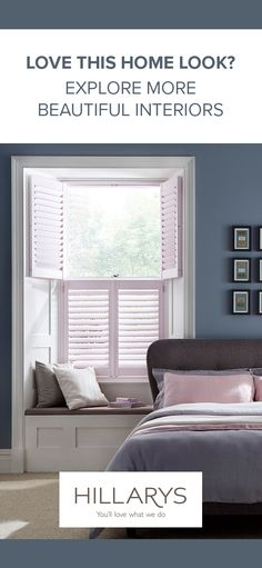 The perfect shutters to get some shut-eye behind. Explore more designs in our gallery. Bedroom Wall, Bedroom Furniture, Home Furniture, Master Bedroom, Bedroom Decor, Interior Inspiration, Interior Ideas, Bedroom Inspiration, Home Upgrades