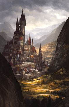 67 Fantasy and Medieval Buildings, Cities & Castles Concept Art to Inspire You 67 Surreal Castle Concept Art Depictions to Surge Inspiration From Dark Fantasy, Arte Final Fantasy, Fantasy Magic, Gothic Fantasy Art, Fantasy City, Fantasy Castle, Fantasy Kunst, Fantasy Places, Medieval Fantasy
