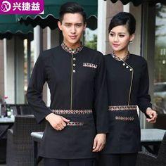 uniformes para lanchonetes e restaurantes - Buscar con Google Waiter Uniform, Spa Uniform, Hotel Uniform, Uniform Ideas, Housekeeping Uniform, Restaurant Uniforms, Staff Uniforms, Uniform Design, Blazers