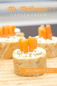 Kids' Party Food:Mr. McGregor's Garden Patch - Spaceships and Laser Beams