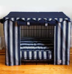 Transform an ordinary metal crate into a den of luxury
