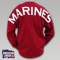 I want an Army one!!! || Marines Football Spirit Jersey | ArmedForcesGear.com