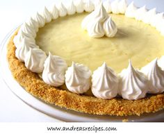 This is a great recipe for a traditional key lime pie. Key limes are also known as Mexican or West Indian limes. If you can't find them in your area, substitute bottled Key lime… Pie Recipes, Great Recipes, Dessert Recipes, Dessert Food, Diabetic Recipes, Key Lime Pie, My Favorite Food, Favorite Recipes, Keylime Pie Recipe