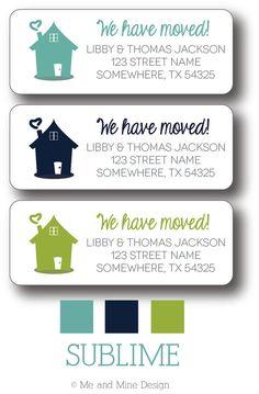 Return Address Labels - We Have Moved!