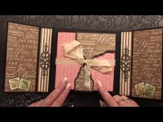 ( Nederlands ) Scrapbook Mini Album Graphic 45 Botanical Tea - YouTube