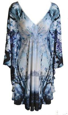 Snowflake Kaftan Dress