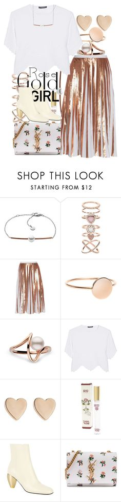 """So Pretty: Rose Gold Jewelry"" by ohlizzy ❤ liked on Polyvore featuring Skagen, Accessorize, Raoul, Alexander McQueen, Jennifer Meyer Jewelry, Isabel Toledo, Valentino, Yves Saint Laurent, contest and rosegold"