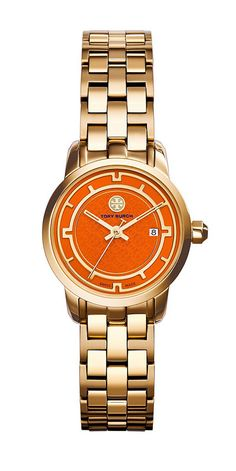 The Tory Watch — classic and sporty and with a jolt of bright orange