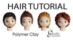 Male chibi hair, face, & beard polymer clay tutorial
