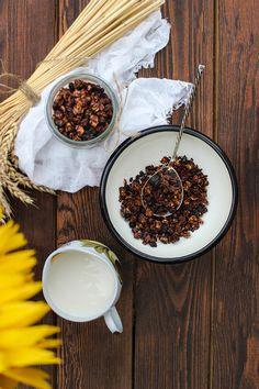 Шоколадная гранола - рецепт приготовления в домашних условиях, с указанием калорийности и содержания белков жиров и углеводов.