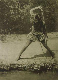 Vintage photo, she's gonna kill something.