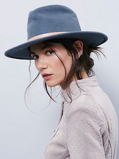 Charcoal Grey fedora from free people