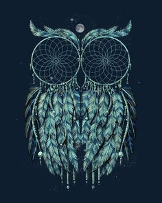 dream catcher/owl great tattoo idea