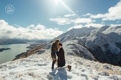 The perfect setting for a surprise heli engagement. By Dan Childs at 222 Photographic Studios, Queenstown, New Zealand. Photographic Studio, Engagement Couple, Love Birds, Image Sharing, Photo Shoots, New Zealand, Dan, Studios, Portrait