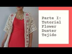 Tutorial del Flower Duster Tejido - YouTube Crochet Jumper, Free Crochet, Crochet Patterns, Lily, Flowers, How To Wear, Youtube, Kimono, Fashion