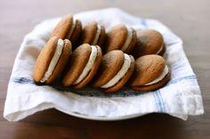 Pumpkin Whoopie Pies by whisksandwhimsy as adapted from onegirlcookies #Whoopie_Pies #Pumpkin #whisksandwhimsy