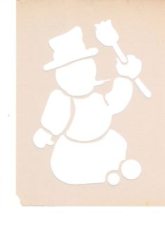 snowman - useable as stencil or spray template