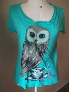 T Shirt Coruja Colcci T. - R$ 50,00