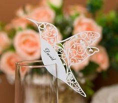 30x Laser Cutting Love Birds Place Cards For Wedding Bomboniere Favors,Multcolor