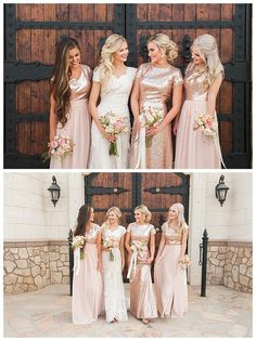 Modest bridesmaid dresses with glitter by LatterDayBride, the Megan, Natalie, and Hilary gowns | LDS Bride Blog | Gateway Bridal & Prom | Home of the LatterDayBride Collection | Salt Lake City | Utah Bridal Shop | Worldwide Shipping
