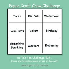 Challenge Images, Tic Tac Toe, You Are Invited, Card Sketches, Project Yourself, First Names, Markers, Polka Dots, Challenges