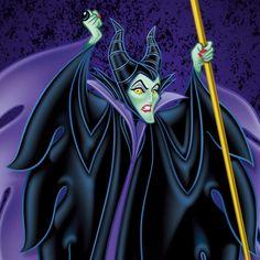 『眠れる森の美女』に登場する、オーロラ姫に呪いをかける魔女★ ディズニー・ヴィランズのイラスト画像