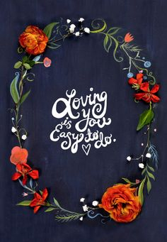 Loving you is easy to do  #type #typography