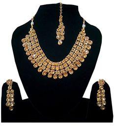 Shoppingover Womens Kundan Polki Pearls #Necklace Set with... https://www.amazon.com/dp/B01I8HNZXK/ref=cm_sw_r_pi_dp_yVPGxb1X0RC3C