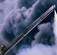 In real crisis can God help - Photo of fireman ascending a ladder in a billow of smoke, illustrating danger and alarm, and God being our only sure peace. He Is Lord, San Rafael, Seek The Lord, Flat Belly Workout, Matte Pink, Finding God, The Kingdom Of God, Life Design, Kinds Of People