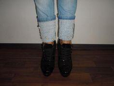 DIY jeans... Diy Jeans, Leg Warmers, Legs, Fashion, Leg Warmers Outfit, Moda, Fashion Styles, Fashion Illustrations, Bridge