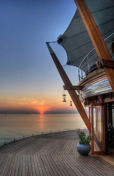 Lighthouse sunset - Baros, Maldives