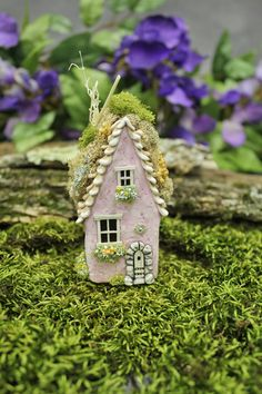 Pink Fairy Willow House 3 3/4 inches tall fairy by FairyWillow