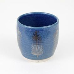 The Large Feather Tumbler is stunning in blue!