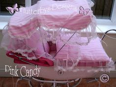 Bildresultat för luxury pram cover lace and frills Silver Cross Prams, Prams And Pushchairs, Dolls Prams, Baby Prams, Baby Carriage, Doll Crafts, Pink Candy, Quilt Sets, Beautiful Babies