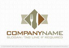 Fork and Knife Logo Knife Logo, Pocket Knife Brands, Catering Logo, Logo Restaurant, Slogan, Survival Knife, Fork, Restaurants, Dinner