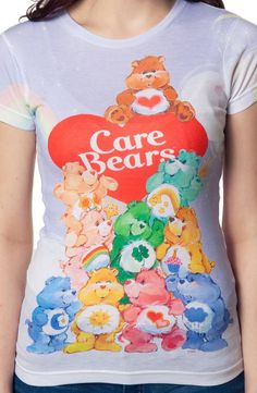 Group Sublimation Care Bears Shirt: Care Bears Juniors T-shirt