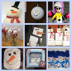9 More Snowmen Crafts                                                                                                _██_                                        (´• ̮•)